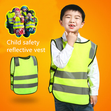 Kids Reflective Vest Children Cycling Reflective Clothing Outdoor Running Protect Reflective fabric Safety Stripes Safe jacket sfvest reversible hi vis reflective waterproof safety vest with 3mreflective tapes oxford and polar fleece fabric