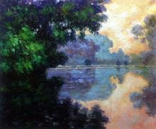 Morning on the Seine near Giverny by Claude Monet Handpainted