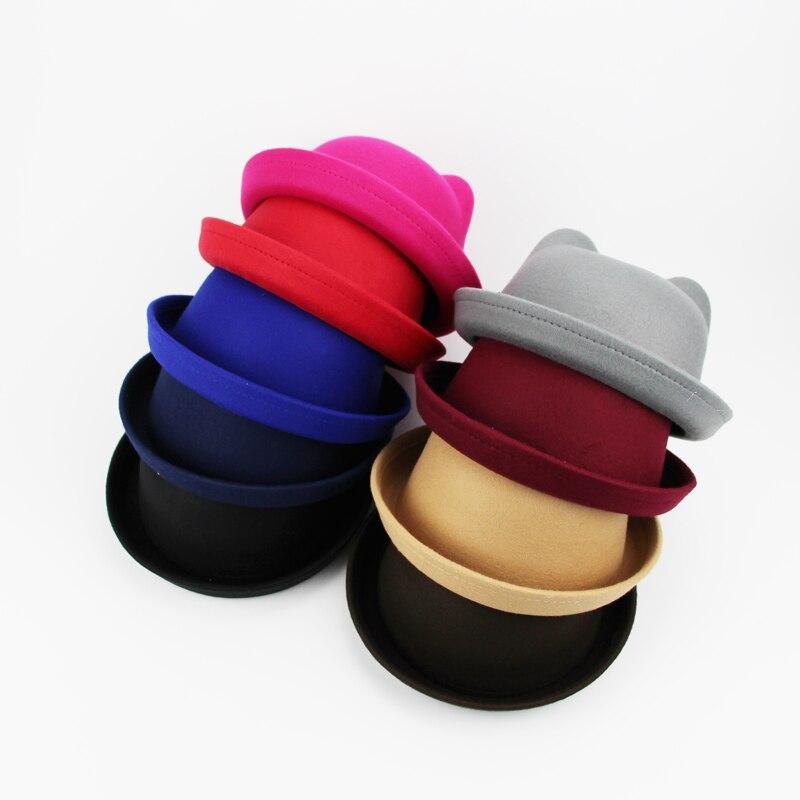 SUOGRY invierno sombrero Fedora con las mujeres de ala ancha correa de  Metal fieltro Fedora hombres 0123033d973