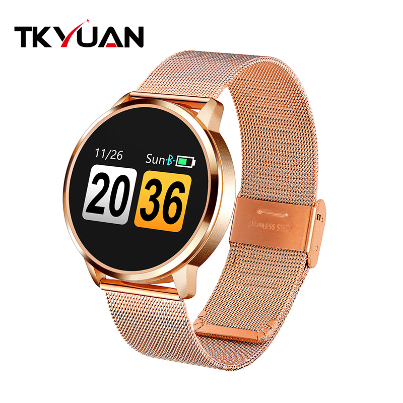TKYUAN Q8 Smart Watch OLED Color Screen Waterproof Smart Electronics Man Women Fashion Fitness Tracker Heart Rate Bluetooth