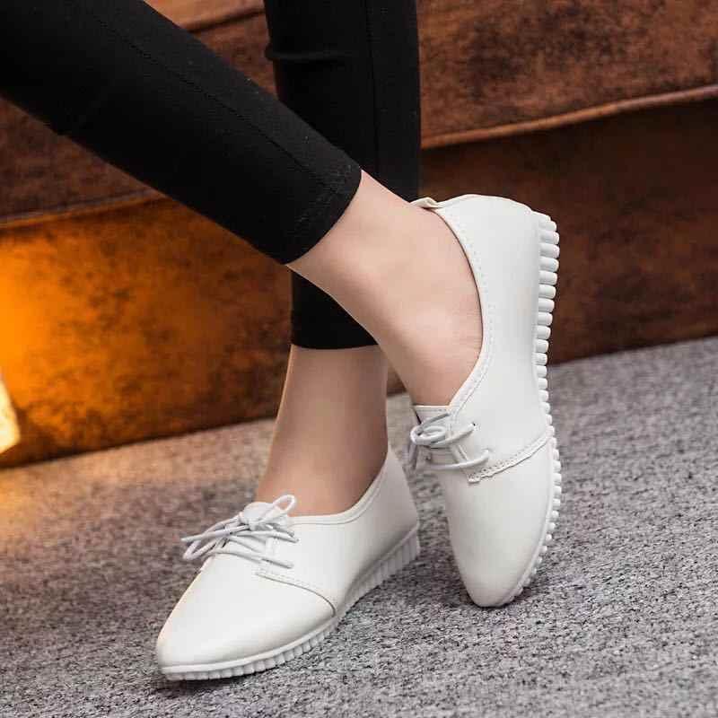 Bailehou Flats Comfortabele Slip op Vrouwen Boot Schoenen Klassieke Merk Oxfords Schoenen Vrouwen Casual Spitse Neus Vrouwelijke Schoenen voor Vrouwen
