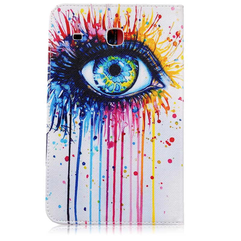 (1Pc) Card Holder Stand PU Leather Case For Samsung Galaxy Tab E 8.0 T377 T377V SM-T377 T375 Tablet Cover Fanshion Designs