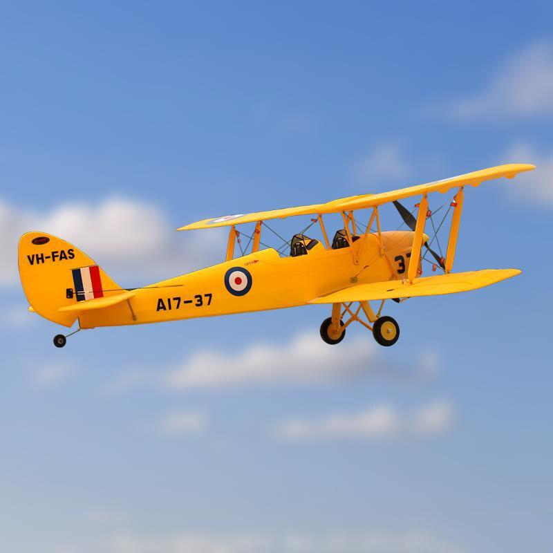Dynam 1270 MM Tiger Moth RC PNP Propeller Vliegtuig W/Motor ESC Servo W/O Batterij TH03656-in RC Vliegtuigen van Speelgoed & Hobbies op  Groep 3