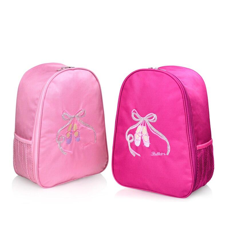 Embroidered Ballet Bag Girl Kids Children Book Bag Pink Waterproof Dance Backpack