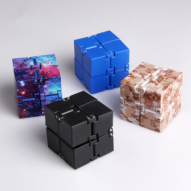 Infinity Cube Mini Fidget Toy Finger EDC Anxiety Stress Relief Magic Cube Blocks Children Kids Funny Toys Best Birthday Gift