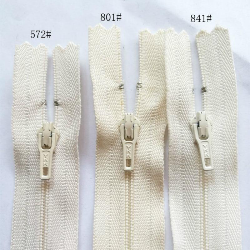 ᓂ30 unids/lote envío más libre YKK nylon bobina cremalleras blanco ...