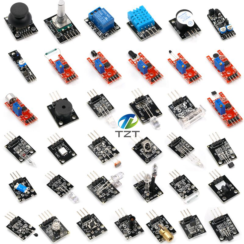 37 IN 1 SENSOR KITS FOR ARDUINO HIGH-QUALITY For Arduino Starters  (Works with Official for Arduino Boards)with box37 IN 1 SENSOR KITS FOR ARDUINO HIGH-QUALITY For Arduino Starters  (Works with Official for Arduino Boards)with box