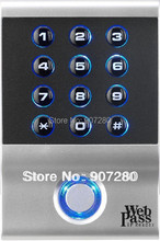 Web Based IP65 Waterproof 13.56 MHz EM(IC) RFID Card & PIN Access Control Keypad
