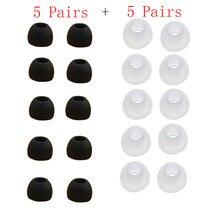 10 pares de tamanho médio claro silicone substituição buds dicas para sony phillips drop shipping 0613