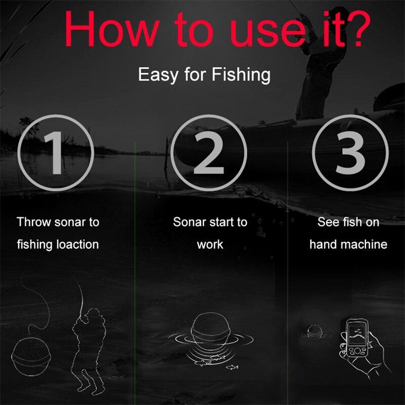 Freies Verschiffen! heißer Sale2019 degisn Draht + Wireless + APP Tragbare Sonar Bunte LCD Fish Finder Angeln locken Echolot FishFinder