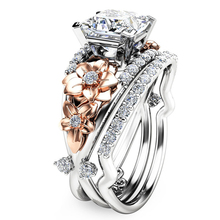 a suit of charming embellished hollow out rings for women Charming Wedding Rings for Women Jewelry Engagement Ring   Flower Design Crystal Rings Femme Anillos Mujer L4Q419