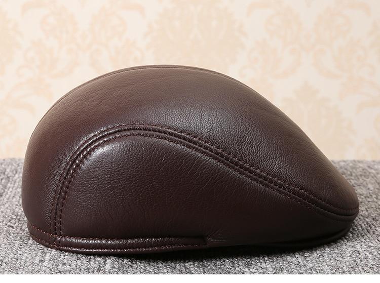 men natural Sheepskin beret (12)