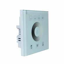 Newest European standard single color touch panel dimmer controller white/black Home Wall Light Switch For LED Strip Tape