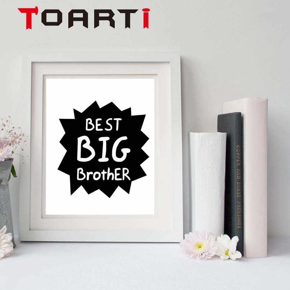 Brother Quote Prints Wall Art Canvas Poster Big Brother Gift Canvas  Painting For Boys Room Home Decoration No Frame