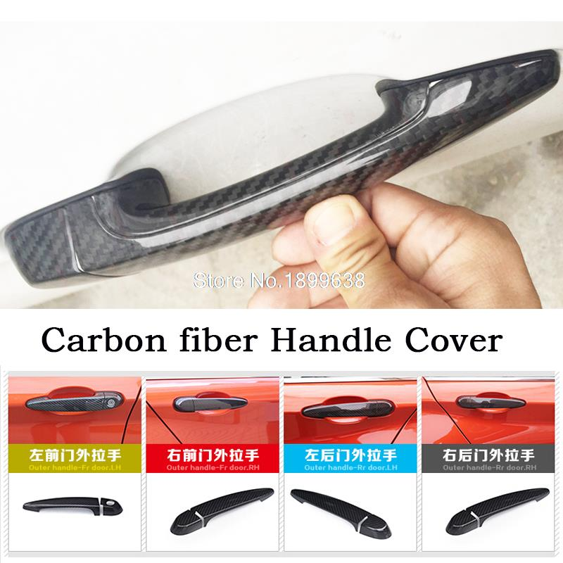 Rear Carbon Fiber Door Handle Bar Cover sticker car accessories styling For BMW 3 series GT F34 M4 F82 F83 2013 2014 2015 2016