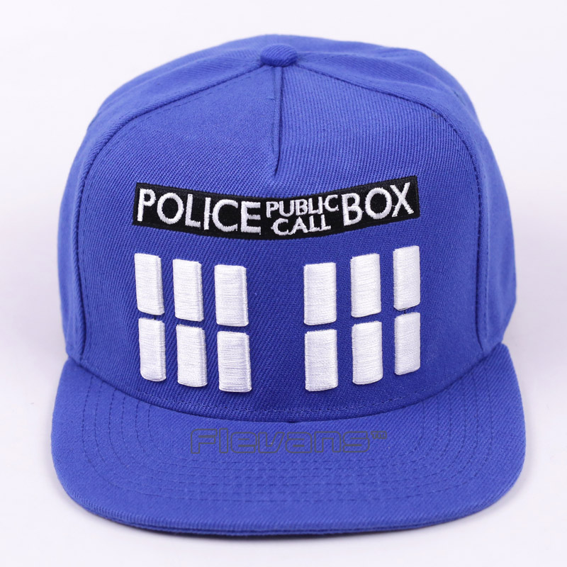Doctor Who Police Box Hip-Hop Cap Fashion Casual Men Women Snapback Caps Letter Baseball Hat