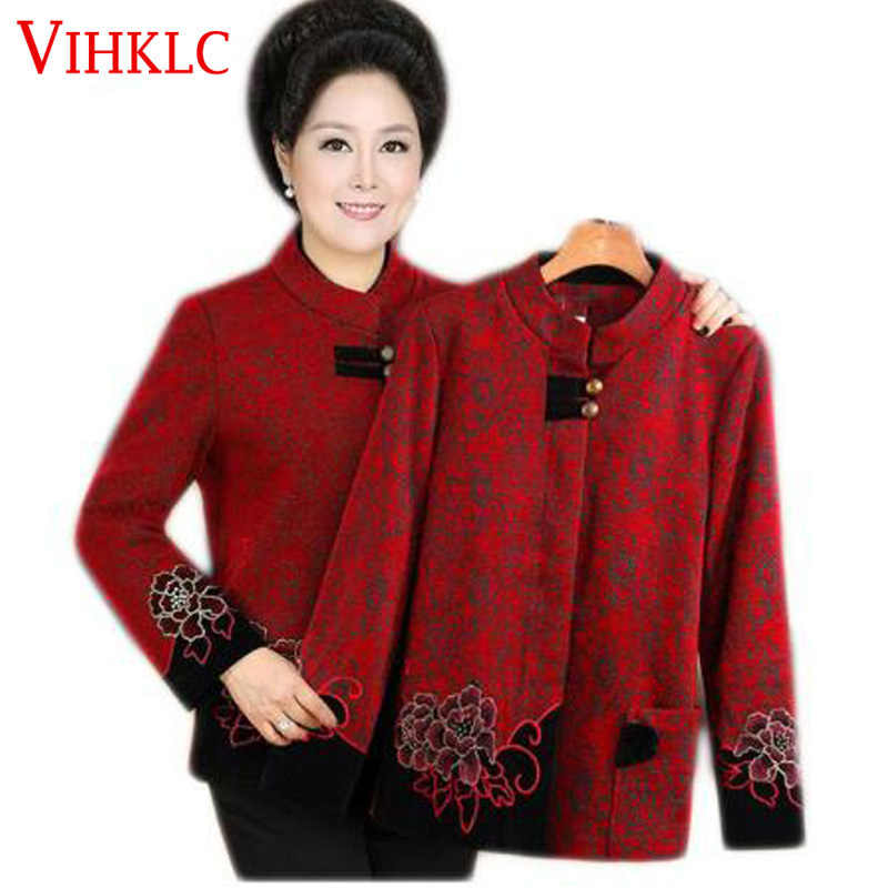 Womens Jackets and Coats Elderly Women Autumn Tang Jacket Mother installed old - Fashioned Mother H891