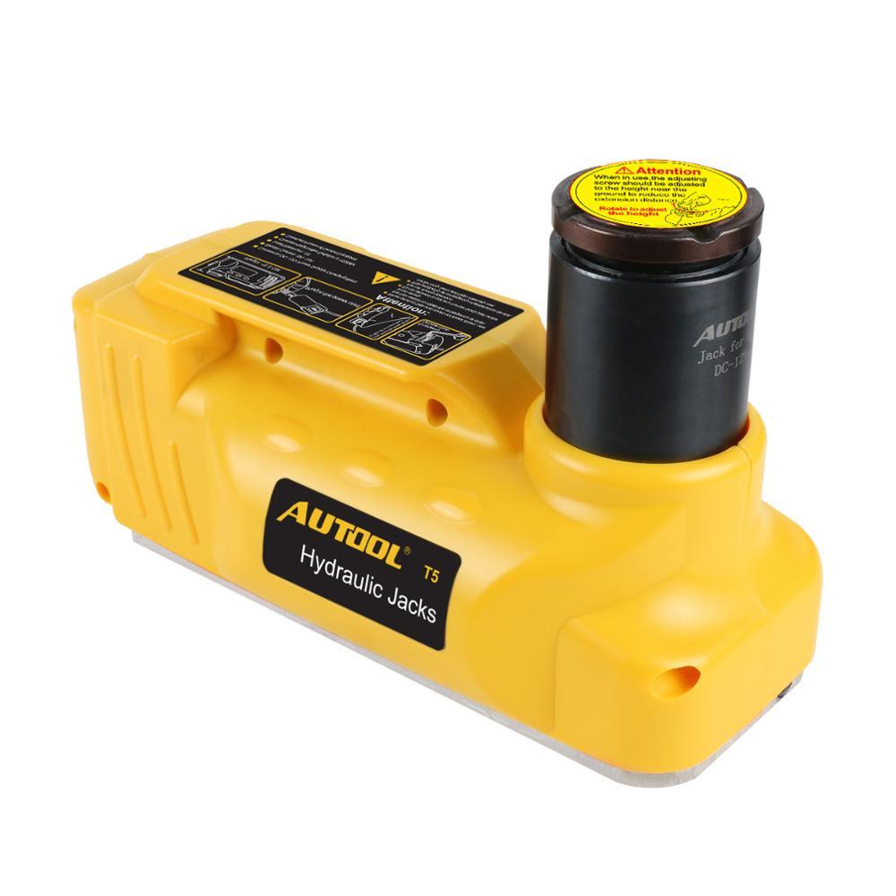 Les vérins hydrauliques de plancher d'ascenseur électrique de 5T 12V le pneu électrique de Jack remplacent des crics portatifs de voiture de levage - 2
