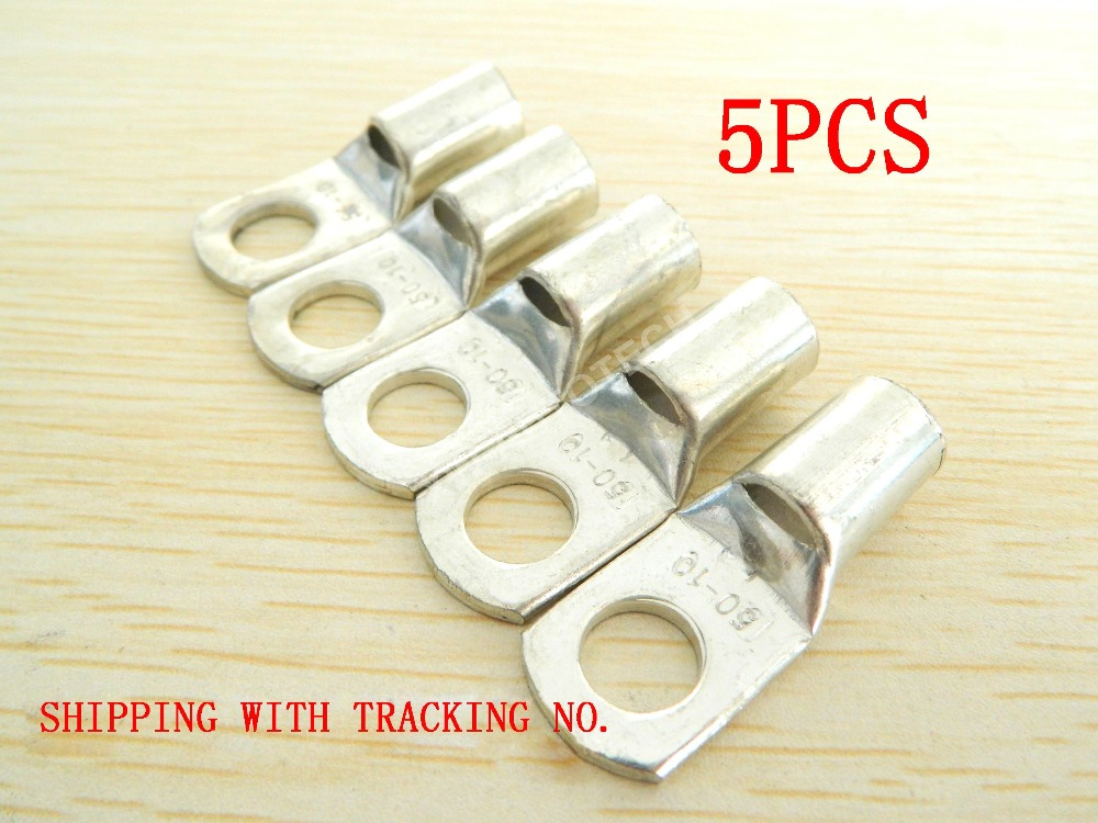 5PCS SC50-10 Tinned Copper Lug Battery Cable Connector Terminal 1-0 A.W.G / 1-0 Gauge Quick Disconnect Connector FOR HIGH POWER