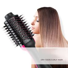 Hair Dryer Automatic Curl Hair Dryer Brush Hair Straightener Input 110-240V Hair Perming Device Wet And Dry Dual Use(China)
