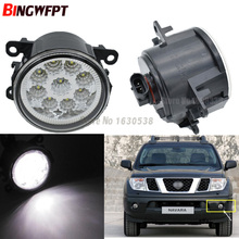 2x Car Exterior Accessories H11 LED Fog Lamps White Yellow Lights For NISSAN Navara D40 Note E11 Pathfinder R51 Pixo UA0