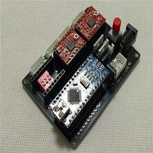 DIY машина лазера лазерная гравировка машина 2 оси шаговый двигатель управления приводом схема TTL Бесплатная доставка
