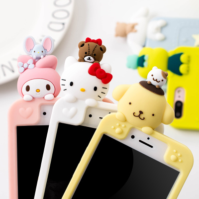 For iPhone 7 7Plus 3D kitty / Melody phone Cases For iphone X 8 8plus 6 6s 6plus Bear dog Soft back cover case girl case