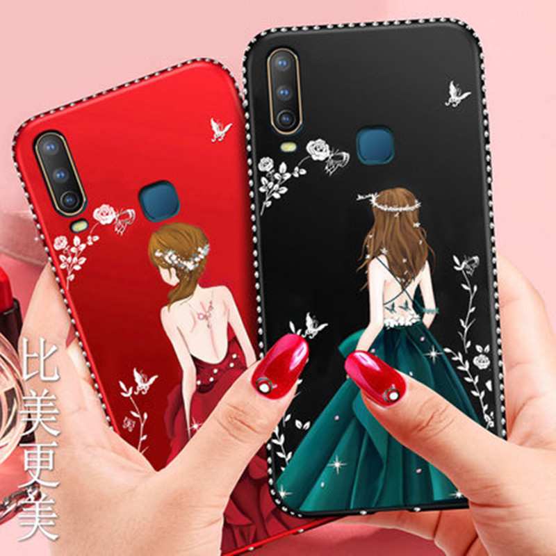 Realme 3 Pro Case Luxury Bling Diamond Shockproof Silicone Case For OPPO RX17 Neo AX7 AX5 R17 Pro K3 Realme X Lite Goddess Shell