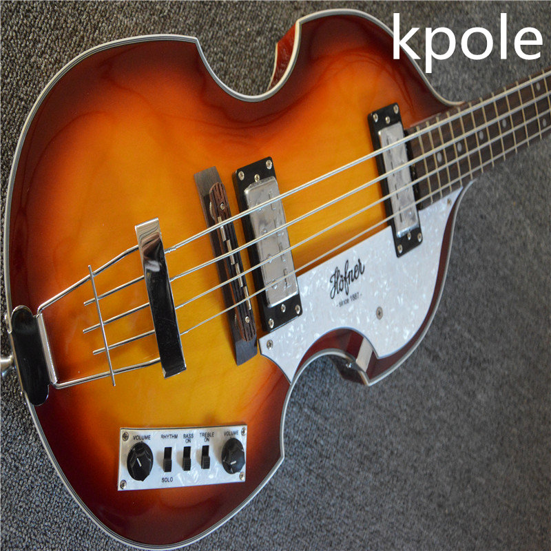 guitar factory wholesale kpole brand new hofner bass 4 string bass electric bass guitar free. Black Bedroom Furniture Sets. Home Design Ideas
