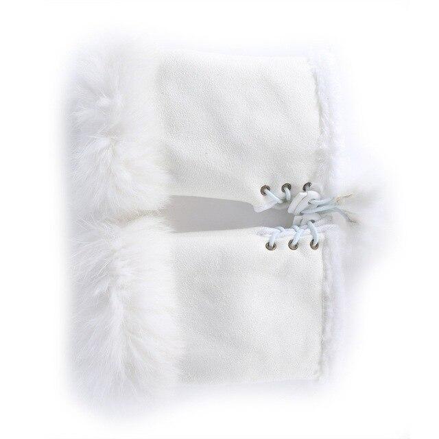 EFINNY Rabbit Fur Leather...