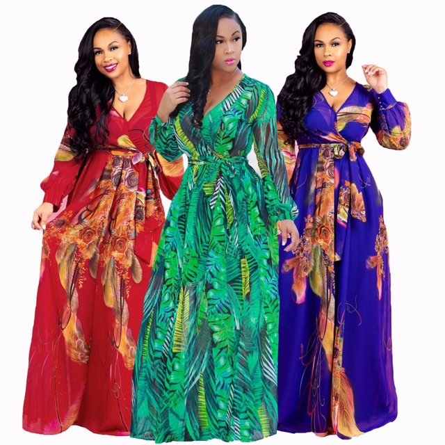 New style African Women clothing Dashiki fashion Print elastic fabric long sleeve dress Super size S M L XL 2XL 3XL 4XL 5XL