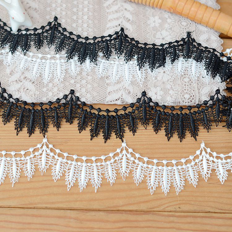 2018 hot sale Lace Accessories Black White Cheongsam Necklace Material Water-soluble Lace 2.5cm H2506