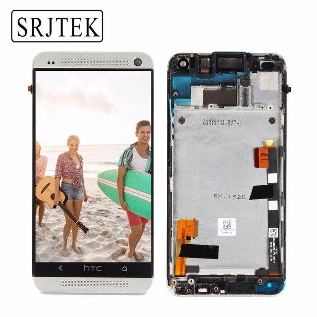 Оригинал 4.7 ''Дисплей для HTC один M7 ЖК-дисплей Сенсорный экран с Рамки HTC один M7 Дисплей планшета Ассамблеи 801e 802D 802D 802 Вт