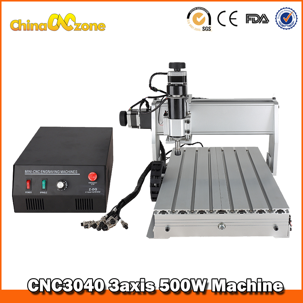 500W CNC 3040 Router Engraving Drilling CNC 3040Z-DQ 3040 CNC Machine 3 Axis Milling Machine Manufacturer free tax desktop cnc wood router 3040 engraving drilling and milling machine