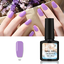 Top Quality Nail Polish 10ML Gel UV LED Lamp Long Lasting Soak Off Varnish DIY Art Tools 90 Colors