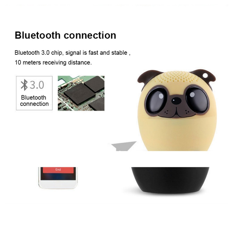 Animal Wireless Bluetooth Speaker with Powerful Rich Room Filling Sound 3W Audio Driver for iPhone/iPad/iPod/Samsung/HTC/Tablets