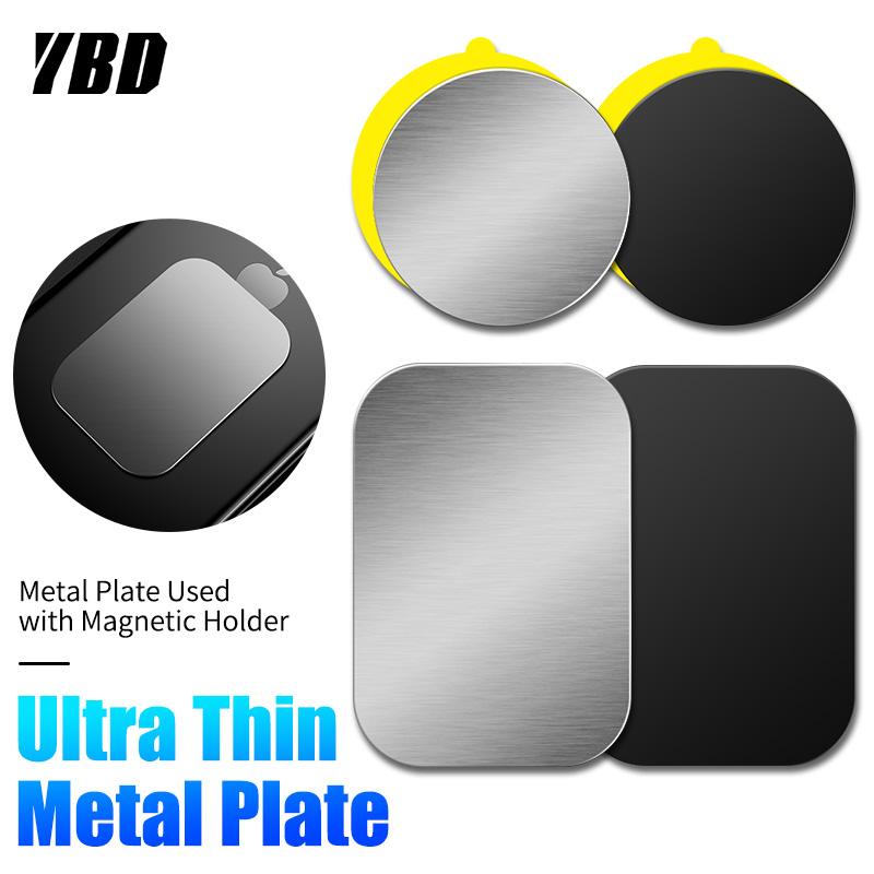 YBD Magnetic Disk Phone Stand Magnet Metal Plate Car Phone Holder Metal Plate Iron Sheets For Magnetic Car Phone Holder