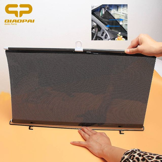 58*125CM Automobile Retractable Side Window Sunshade Car Sun Block Solar Protection Cover Front Windshield UV Protect Curtain