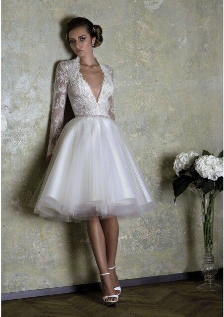 Vintage Lace Cap Sleeves Short Lace Wedding Dress Expensive 2016 Sereia  Vestido De Noiva 5884b9dcc9fd