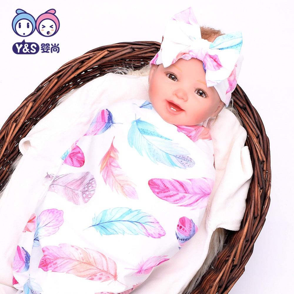 Wisbibi 2pcs / set! Pasgeboren Mode Baby Inbakeren Deken Baby Slapen - Beddegoed - Foto 1