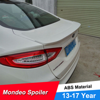 JNCFORURC Rear Trunk Car Spoiler Wings For Ford Mondeo Fusion 2013 14 15 16 17 18 ABS Plastic Ducktail Lip Car Spoilers Wings