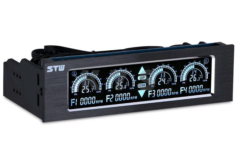 STW 5043 5.25 Driver Place Fan Speed Controller LCD 4 Channel Touch Screen цена