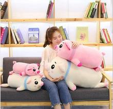 WYZHY down cotton scarf pig hug plush toy sofa decoration to send friends and children gifts 40CM