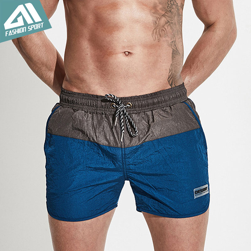 Desmiit Patchwork Swimming   Shorts   Summer Surfing Beach Men's   Board     Shorts   Sport Athletic Running Gym Workout   Shorts   Male DT77