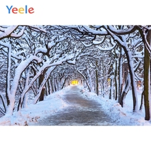 Yeele Winter Landscape Forest Snow Room Decor Light Photography Backdrops Personalized Photographic Backgrounds For Photo Studio