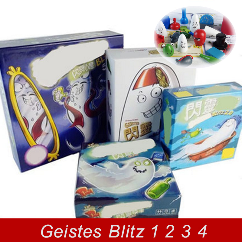 New Geistes Blitz 1 2 3 4 SET Board Game 2-8 Players Family/Party Best Gift for Children Kids Fans Cards Game Indoor Games