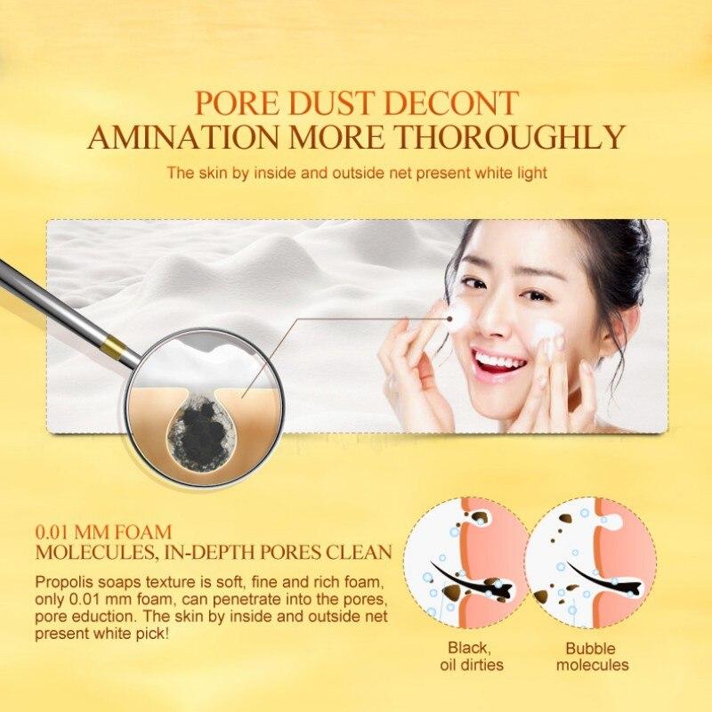 50g Natural Organic Herbal Whitening Handmade Soap Lightening Skin Remove Acne Moisturizing Cleansing Bath Soap 4