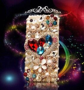 Image 2 - Lüks Bling elmas telefon kılıfı için Huawei onur 7X 7C 7A 8 9 10 Lite 8X Max 8A Pro Rhinestone kristal kapak Fundas Coque