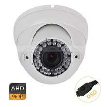 CCTV AHD 1.3MP 960P OSD 2.8-12mm Varifocal Lens Metal Dome Camera 42IR