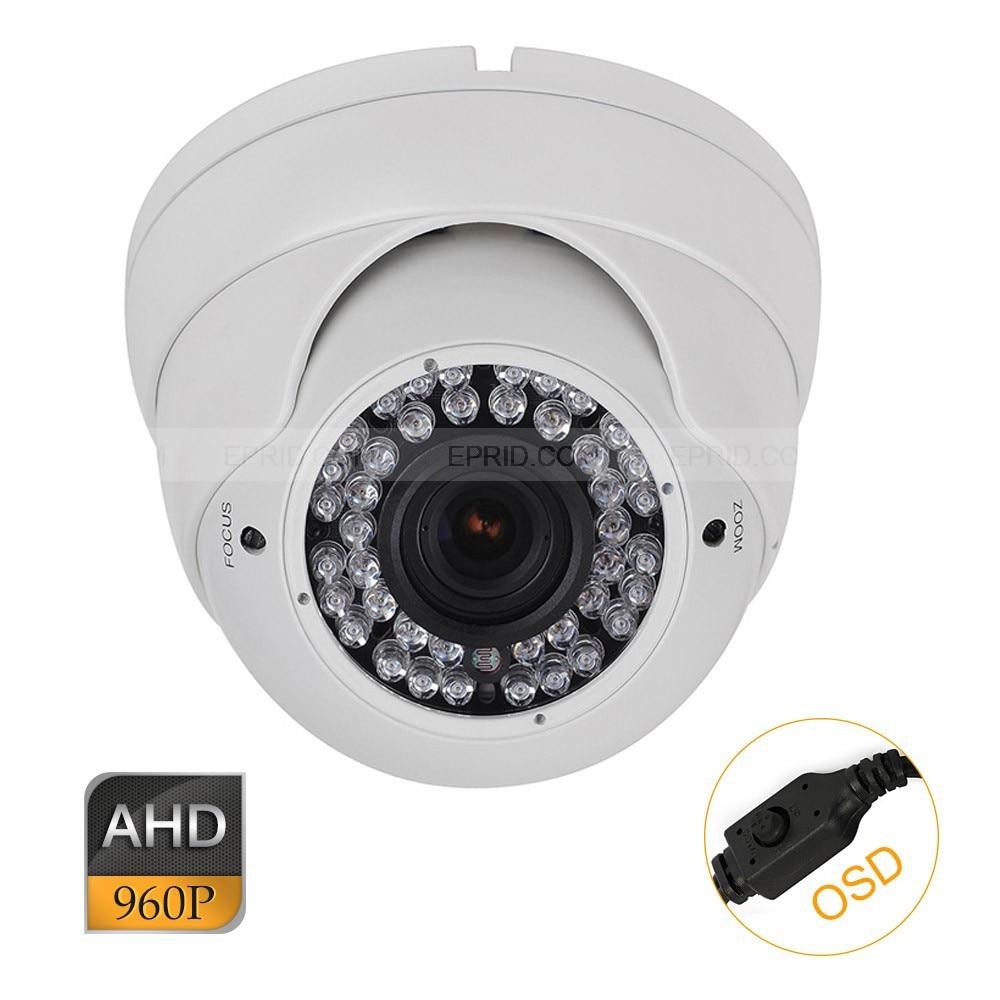 CCTV AHD 1.3MP 960P OSD 2.8-12mm Varifocal Lens Metal Dome Camera 42IRCCTV AHD 1.3MP 960P OSD 2.8-12mm Varifocal Lens Metal Dome Camera 42IR